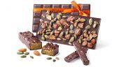Julien Merceron a imaginé une nouvelle recette de praliné à base de chocolat (68% de cacao), d'amandes et de graines de courge.