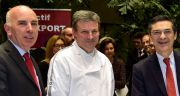 Daniel Goupillat, Président de la CMA des Hauts-de-Seine, Franck Thomasse, président des boulangers du département, et Patrick Devedjian, Président du CG des Hauts-de-Seine.