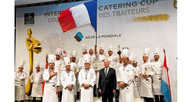 La France en haut du podium de l'international catering cup.