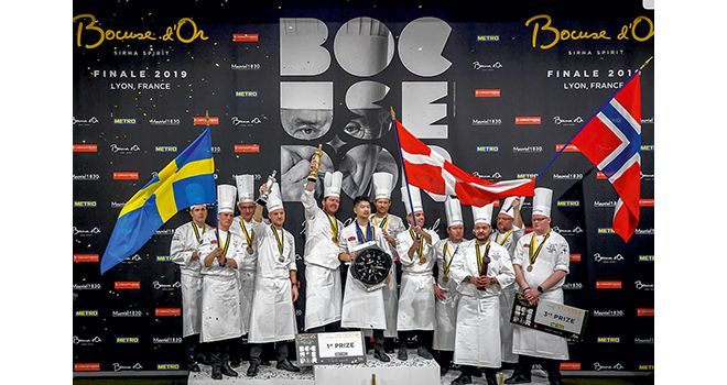 Le podium du Bocuse d'or.