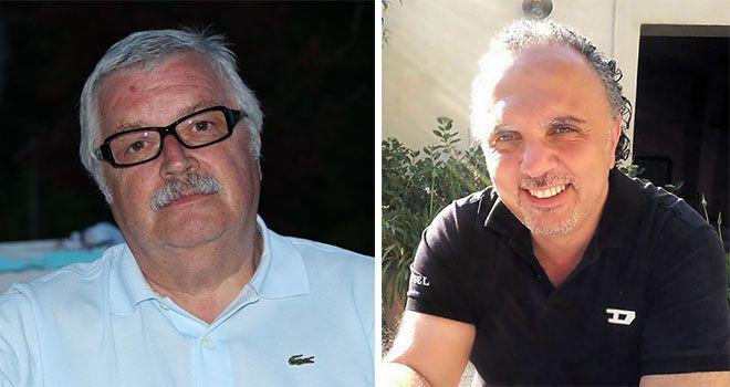 Charles Agop (d.) succède à Jean-Marc Hardouin (g.)