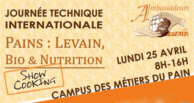 Journée technique internationale levain, le 25 avril à Saint-Chamond