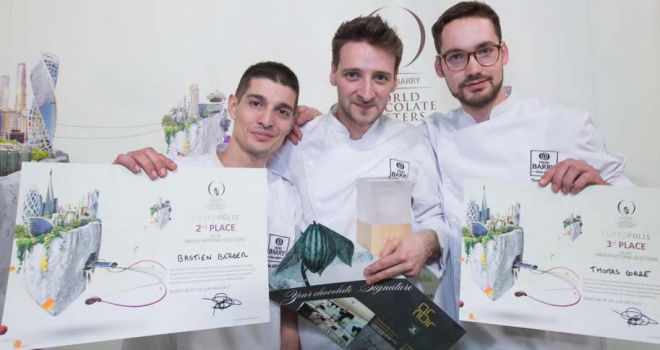 de gauche à droite : Bastien Berger, Yoann Laval et Thomas Corre