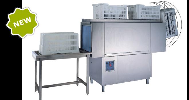 Le tunnel BX 230 spécial dédié au lavage des cagettes de boulangerie, pâtisserie et traiteur
